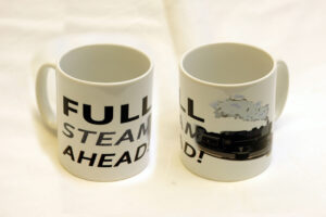 Full Steam Ahead! ceramic mug
