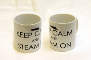 Keep Calm And Steam On! ceramic mug