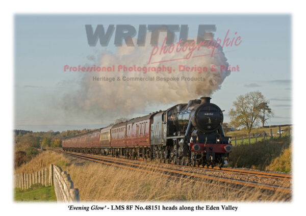 LMS 8F No. 48151 heads along the Eden Valley.