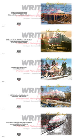 Steam Railway Christmas Cards