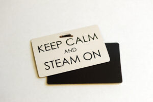Keep Calm & Steam On Flexi Magnet