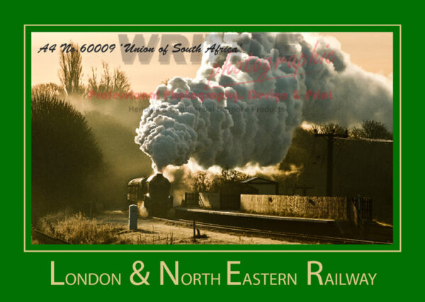LNER A3 POSTER 60009 UNION OF SOUTH AFRICA