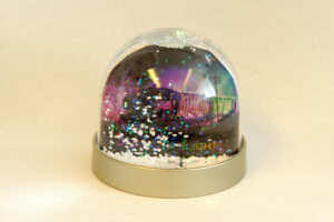 Steam In Lights Railway Snow Globe