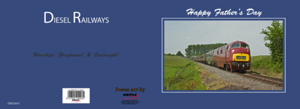 BR Warship Diesels 'Onslaught & Greyhound' Father's Day Card
