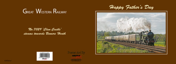 GWR Steam 'Clun Castle' Father's Day Card
