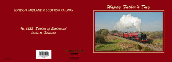 LMS Steam 'Duchess of Sutherland' Father's Day Card